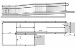 Modelo de una rampa accesible