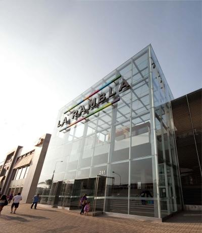 """Entrada de centro comercial """"La Rambla"""""""