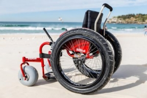 Sillas de Ruedas para playa, con ruedas para arena