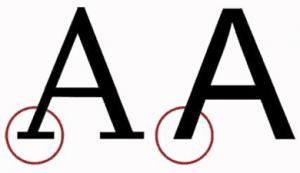 Accesibilidad en fuente de señalética, letras tipografia palo seco
